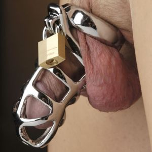 STAINLESS STEEL CHASTITY COCK CAGE