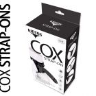 KIOTOS COX STRAP-ON AND DILDO BLACK 24 CM