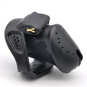 MALE CHASTITY DEVICE WITH PERFORATED DESIGN SMALL BLACK