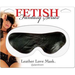 FETISH FANTASY LEATHER LOVE MASK BLACK