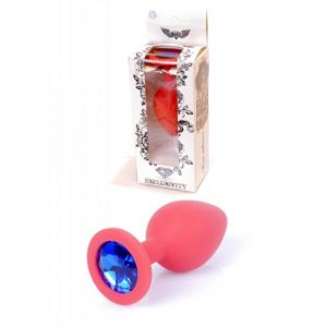 ANAL PLUG MEDIUM RED BLUE DIAMOND
