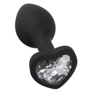 ANAL PLUG SMALL BLACK HEART DIAMOND