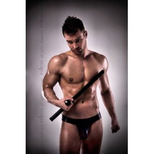 PASSION MEN - FISHNET POUCH JOCK BLACK