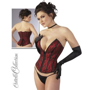 COTTELLI COLLECTION RED AND BLACK CORSET