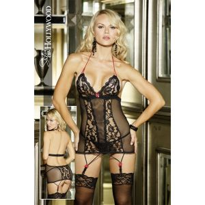 CHOPPER BAR LACE AND MESH CHEMISE