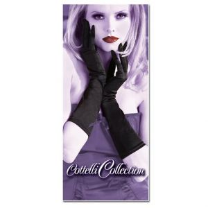 GLOVES MEDIUM BLACK SATIN