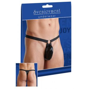 SVENJOYMENT MEN'S STRING IN WETLOOK