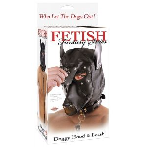 FETISH FANTASY  DOGGIE HOOD AND LEASH