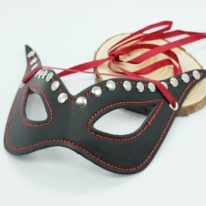 EYE MASK WITH RED RIBBON