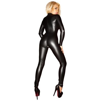 NOIR HANDMADE WETLOOK JUMPSUIT