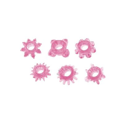 TIMELESS SUPER-STRETCHY COCK RINGS (6 PCS)