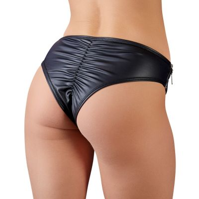 BRIEFS WITH A DECORATIVE BUCKLE AND SIDE ZIPS