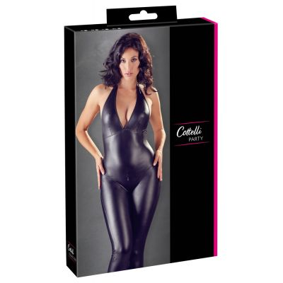 SEXY CROTCHLESS WETLOOK CATSUIT MAT