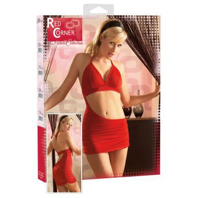 RED CORNER MINI DRESS RED L