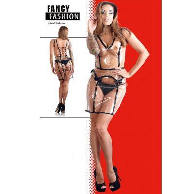 KNEE-LENGTH PVC TRANSPARENT DRESS