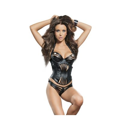 LEDAPOL LEATHER BRA, BELT & STRING