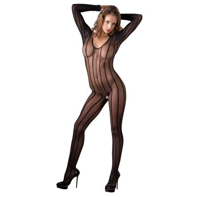MANDY MYSTERY CATSUIT BLACK WITH STRIPES